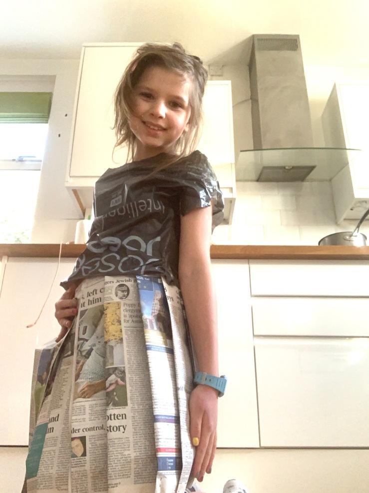 newspaper-skirt